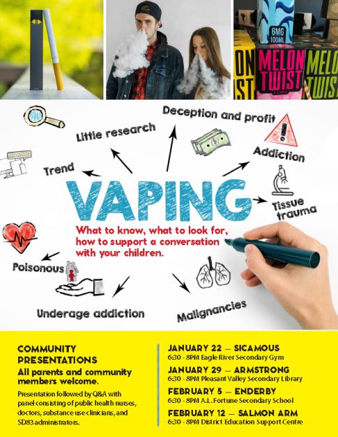 DPAC vaping poster
